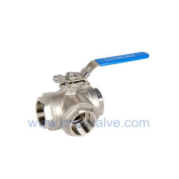 3way Screwed Ball Valve with Directly Pad